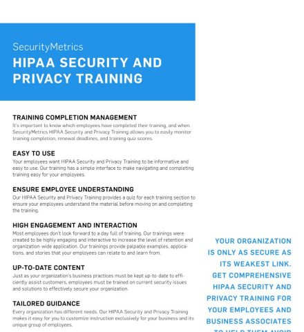 HIPAA Privacy and Security Training