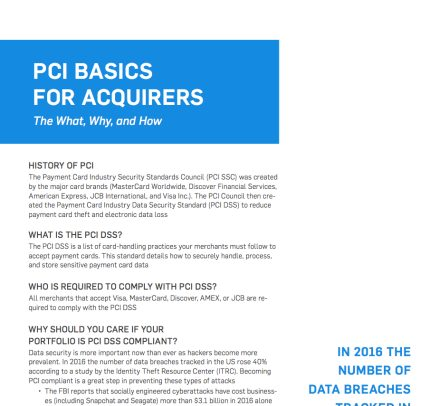 PCI Basics for Acquirers