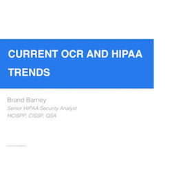 Current OCR and HIPAA Trends