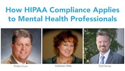 How HIPAA Compliance Applies to Mental Health Professionals