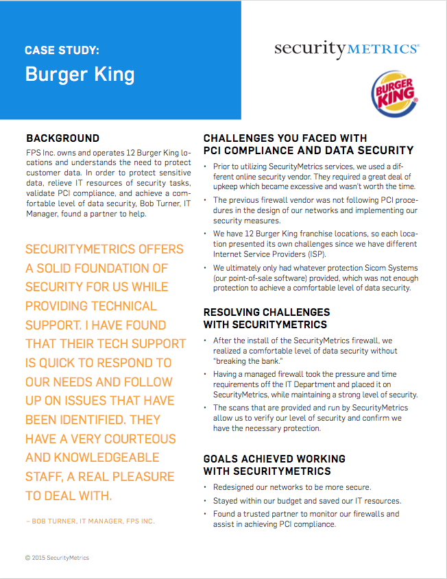 Burger King Franchise Case Study