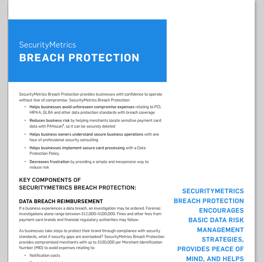 Breach Protection Data Sheet, cyber insurance, cyber security insurance, pci insurance