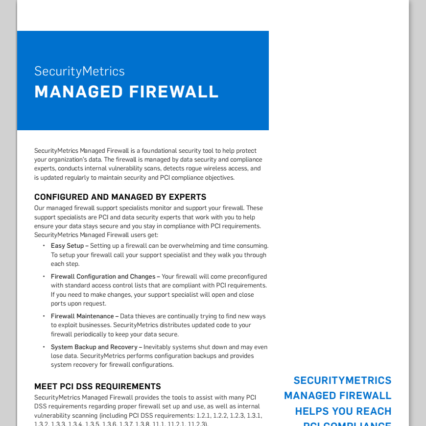 Managed Firewall Data Sheet